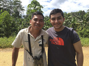 Student Mario Soliman and tour guide