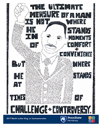 2017 MLK, Jr. Day Poster Design winner