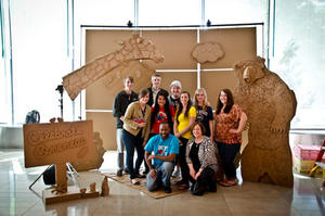The students involved in the ONE Design project.