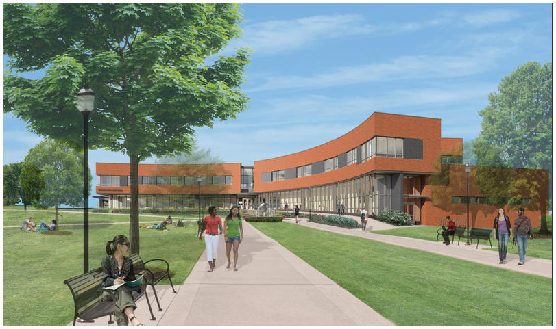 Artist's rendering of the Student Enrichment Center