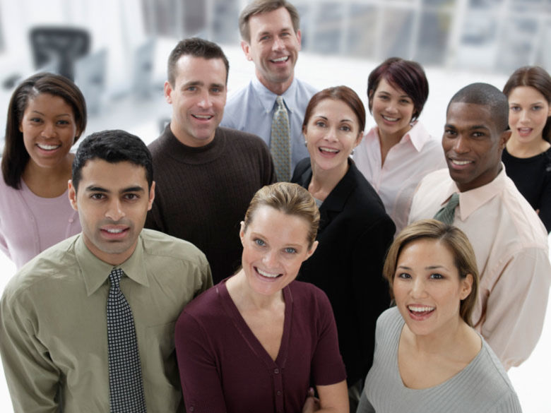 group of diverse employees