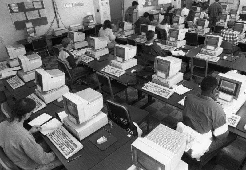 Penn State Harrisburg 1980 computer lab