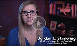 SPA Graduate Student Success Coordinator Introduction with Jordan Stimeling