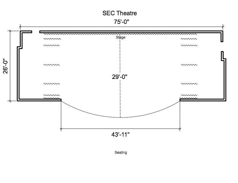 SEC Theatre Stage Diagram | Penn State Harrisburg