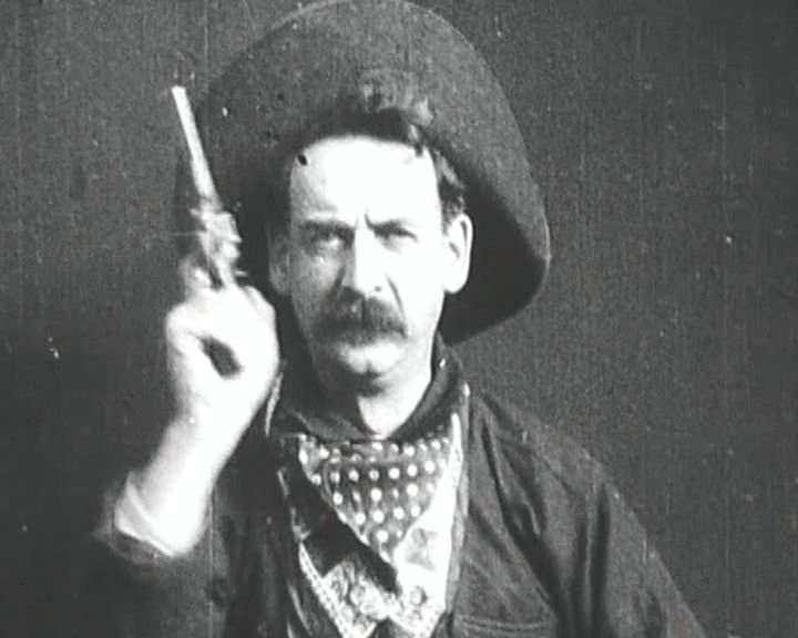 Still from The Great Train Robbery (Edison Studios, 1903)