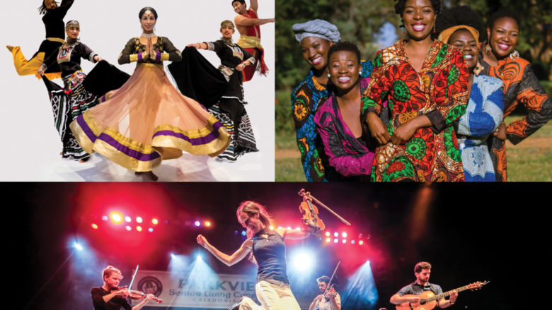 three photographs of cultural series acts