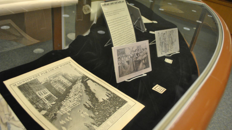"""The """"American Women and Modern Culture, 1890-1920"""" exhibit is on display in the Penn State Harrisburg Library until Feb. 8."""