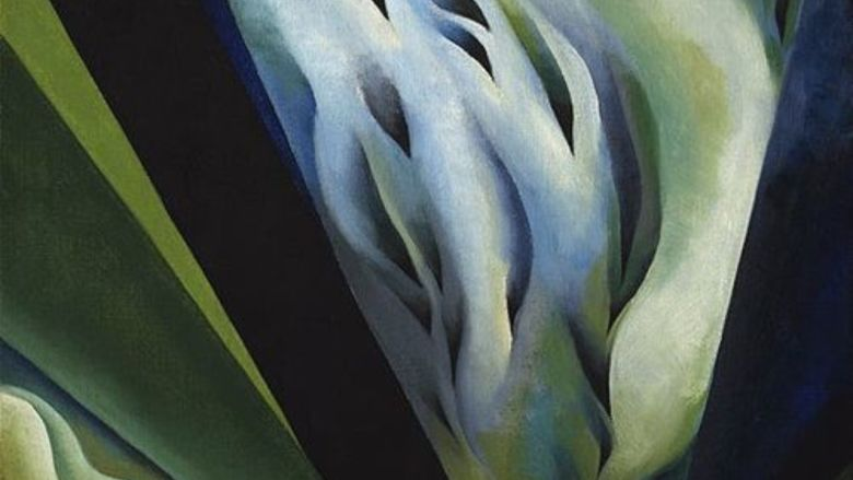 """Georgia O'Keeffe, """"Blue and Green Music,"""" 1921. O'Keeffe will be the topic of a Women's History Month presentation March 29."""