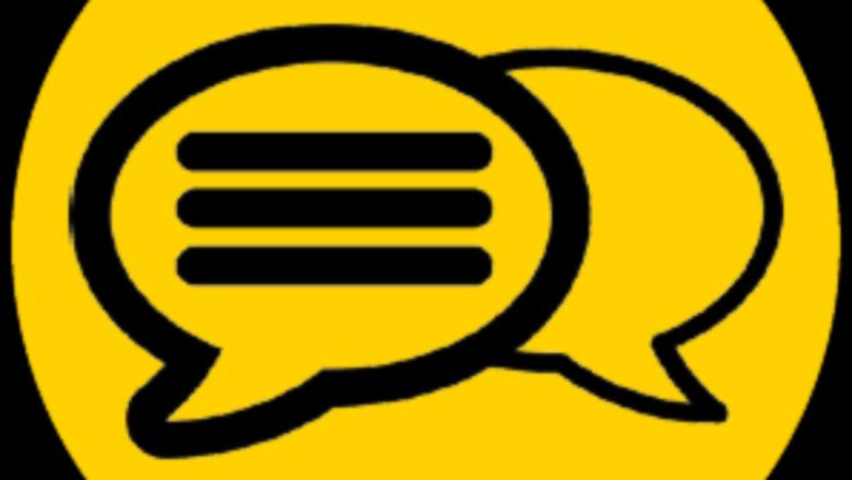 Icon representing a discussion