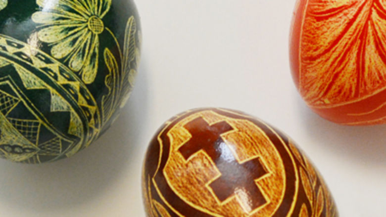Ukrainian decorative egg art