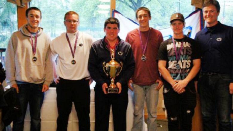 Golfers Ryan Foell, Matt Plummer, Max Hrip, Steve Foell, and CJ Foust; and Head Coach Brad Kane