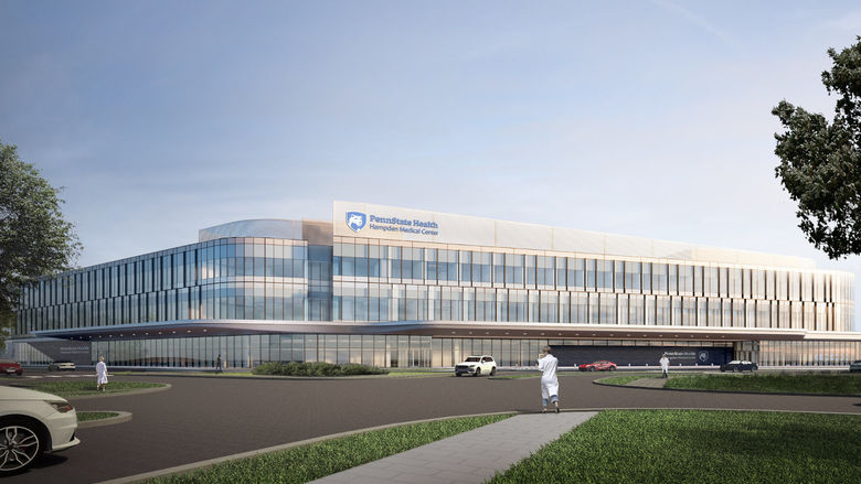 An artist's rendering of Penn State Health Hampden Medical Center