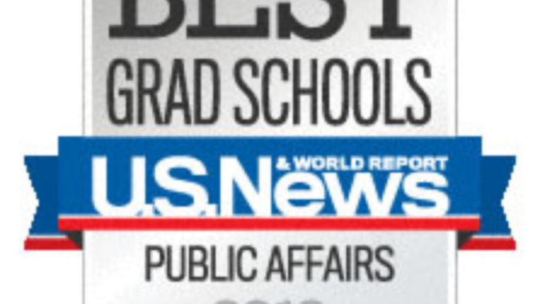 U.S. News & World Report 2013 Ranking for Public Affairs