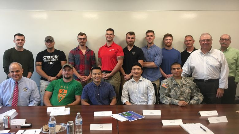 RVI members meet with scholarship recipients on campus