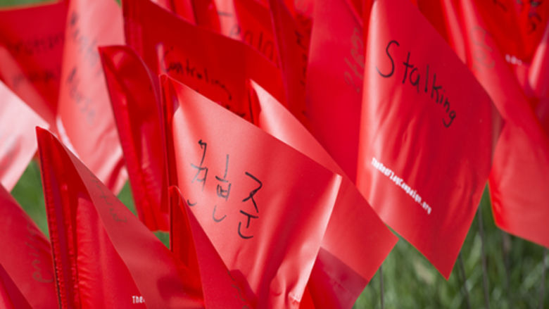 The Red Flag Campaign, Sexual Assault Awareness Month.