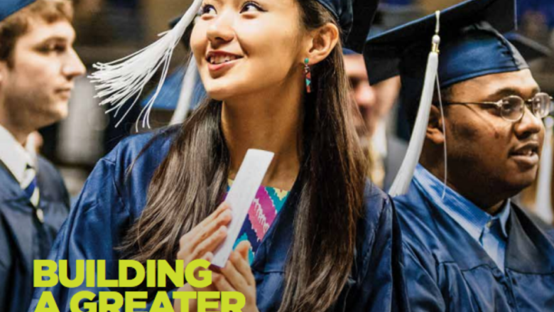 Graduates in cap and gown on cover of We Are magazine