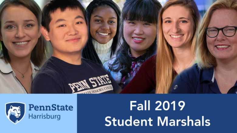 Meet the Penn State Harrisburg fall 2019 student commencement marshals