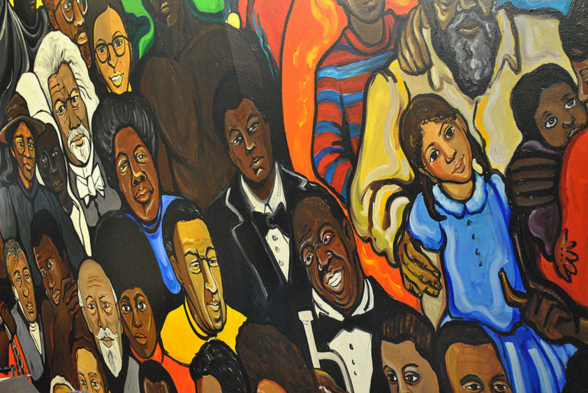 Mural from Oliver LaGrone Cultural Center