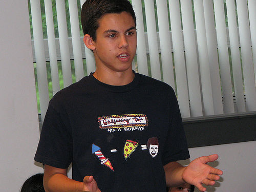Student presents original short story at Young Writers Academy