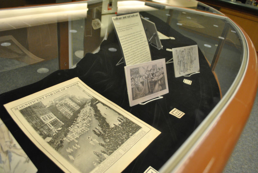 "The ""American Women and Modern Culture, 1890-1920"" exhibit is on display in the Penn State Harrisburg Library until Feb. 8."