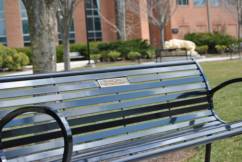 Commemorative bench in honor of Dr. Howard Sachs