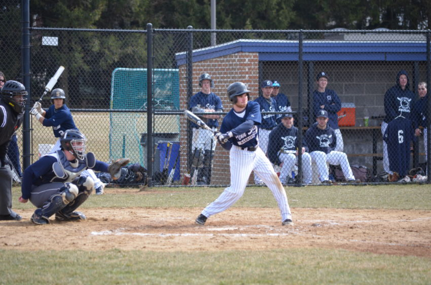 Dalton Trolinger at bat