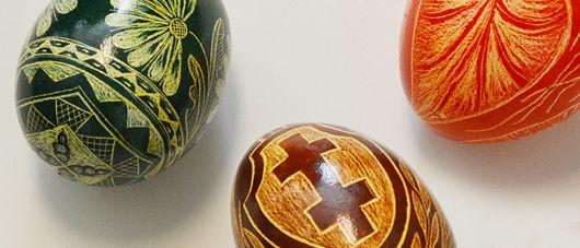 Ukrainian decorative egg art