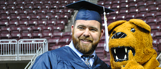 graduate with Nittany Lion