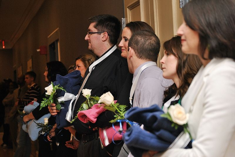 Graduates at the first pinning ceremony for the college's second degree in nursing program