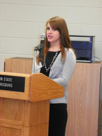 Megan Kreiser, winner of the 2012 Jeffrey and Jean Merritt Honors Thesis Award