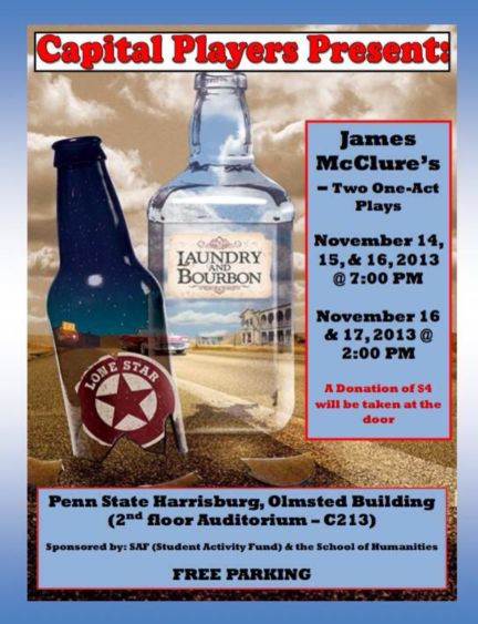 """""""Laundry and Bourbon"""" and """"Lonestar,"""" two one-act plays by James McClure"""