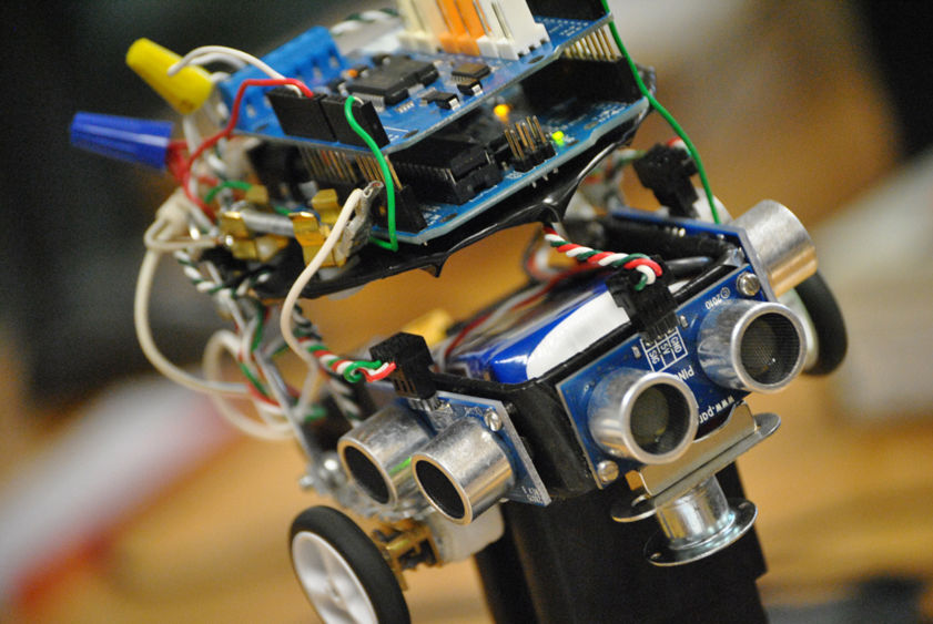 "A robotic ""micromouse"" built by Penn State Harrisburg students."