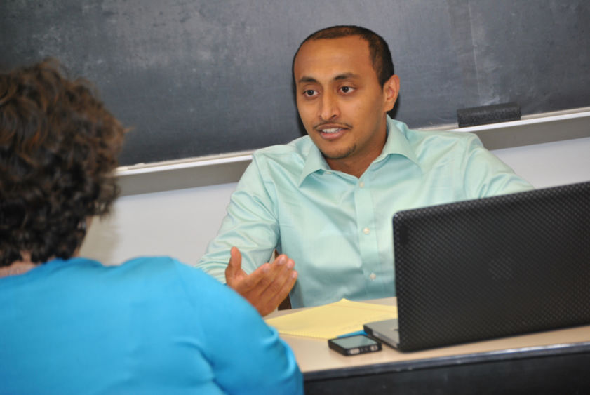Romeo Vallias, who placed in the top 25 of the 2011 challenge, helped this year's students prepare.