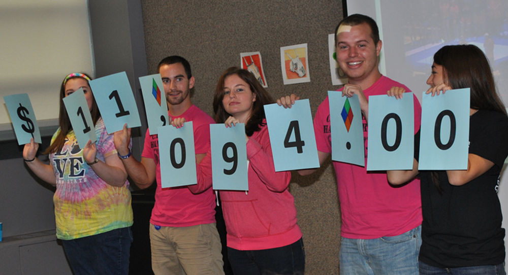 During the first THON canning weekend, Penn State Harrisburg students raised a campus record of $11,094.